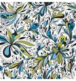 Seamless doodle floral background vector image vector image