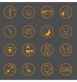 Set of simple vet icons vector image vector image
