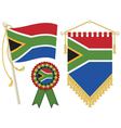 south africa flags vector image vector image