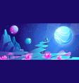 space landscape night alien fantasy planet surface