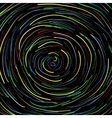 Spiral black background vector image vector image