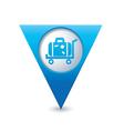 suitcase on wheelbarrow icon map pointer blue vector image vector image