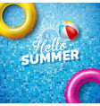 summer with float on water vector image vector image