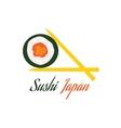 Sushi Japan Logo Flat Style Design vector image