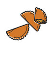 tasty cooked dumplings vector image vector image