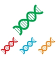 The dna sign Colorfull set vector image vector image