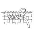 trimming a basket has been bounded and banded vector image vector image