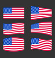 united state of america flag usa flag vector image vector image