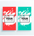 watercolor splash banners set abstract vector image