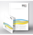 Colored wave background Brochure flyer or report vector image