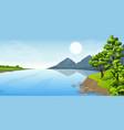 rural summer landscape vector image