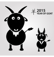 2015 - year of goat with chinese symbol for goat vector image vector image