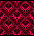 3d red and black modern greek seamless pattern vector image