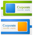 Abstract business corporate design vector image