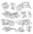 Abstract swirls page ornaments calligraphic vector image