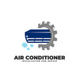 air conditioner installation repair service vector image vector image