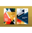 Annual Report A4 page cover vector image vector image