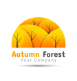 Autumn forest Volume Logo Colorful 3d Design vector image