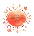 Autumn red background for text vector image vector image