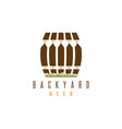 backyard beer design template with fence and cask vector image