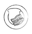 bacon stripes icon image vector image vector image