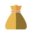 bag money cash bank economy finance icon vector image