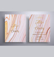 beautiful set wedding invitations with stone vector image vector image