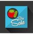 big sale concept juicy tomato vector image vector image