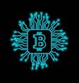 bitcoin falling apart to digits vector image vector image