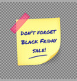 black friday reminder sticker vector image