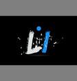 blue white alphabet letter combination li l i vector image vector image