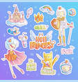 brave tomboy hell princess cartoon set vector image vector image