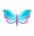 butterfly ion white background vector image vector image