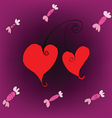 candy hearts love vector image vector image