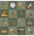 Carpentry tools icons vector image