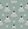 chick penguin pattern vector image vector image