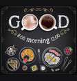 collection breakfast food vector image vector image