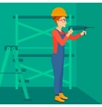 Constructor with perforator vector image vector image
