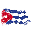 Cuba Flag Grunge vector image vector image