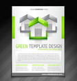 eco green brochure flyer poster template vector image
