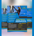 electrical services flyer template vector image vector image