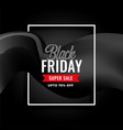 elegant black friday super sale background design vector image
