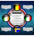 euro soccer group e vector image vector image