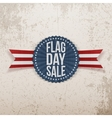 Flag Day Sale festive Emblem with Text and Shadow vector image