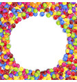frame of circle colored candies vector image vector image