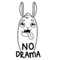 funny llama vector image