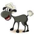 funny sheep cartoon vector image vector image
