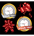 gift elements vector image vector image