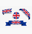 great britain flag stickers and labels vector image