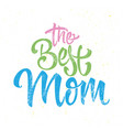 greeting card for the best mother vector image vector image